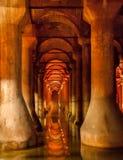 Basilika-Zisterne Istanbul die Türkei Stockbilder