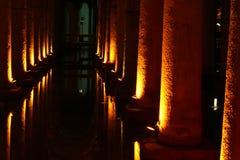 Basilika-Zisterne, Istanbul, die Türkei stockfotografie