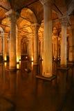 Basilika-Zisterne in Istanbul-Stadt Stockfoto