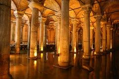 Basilika-Zisterne in Istanbul-Stadt Lizenzfreie Stockbilder