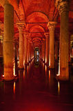 Basilika-Zisterneinnenraum in Istanbul stockfotos