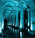 Basilikacistern i Istanbul. royaltyfria bilder