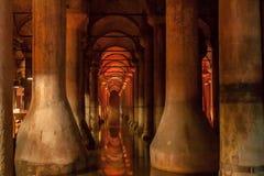 Basilikacistern Istanbul Turkiet Arkivbilder