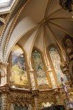 Basilikadeckendetail, Montserrat Monastery nahe Barcelona Stockfotografie