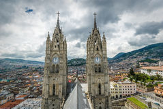 Basilikadel Voto Nacional, Quito, Ecuador Royaltyfria Foton