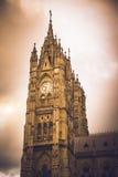 BasilikadelVoto Nacional kyrka i Quito, Ecuador Arkivfoton
