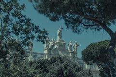 BasilikaDi San Giovanni i Laterano (St John Lateran), den första kristna basilikan som konstrueras i Rome arkivfoto