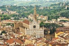 Basilikadi Santa Croce, Florence royaltyfri bild