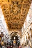 Basilikadi Santa Maria i munkhättacoelien rome Italien arkivfoto