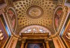 Basilikadi Santa Maria i Trastevere, Rome, Italien Arkivbilder