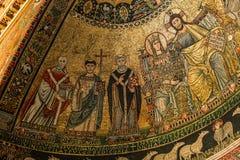 Basilikadi Santa Maria i Trastevere, Rome, Italien Royaltyfria Bilder