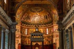 Basilikadi Santa Maria i Trastevere, Rome, Italien Royaltyfri Foto