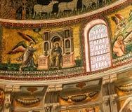 Basilikadi Santa Maria i Trastevere, Rome, Italien Arkivfoto