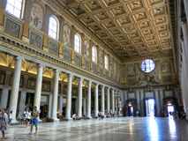 Basilikadi Santa Maria Maggiore, Rom Stockbild