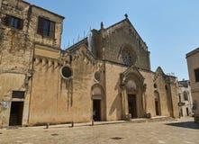 BasilikadiSanta Caterina d'Alessandria Galatina Apulia, Italien Royaltyfri Bild