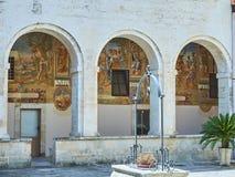 BasilikadiSanta Caterina d'Alessandria Galatina Apulia, Italien Royaltyfria Bilder