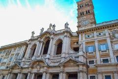 BasilikadiSanta Maria Maggiore kyrka av Santa Maria Maggiore arkivbild