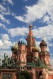 basilikadomkyrkamoscow röd russia fyrkantig st Royaltyfri Bild