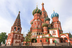 basilikadomkyrkamoscow röd russia fyrkantig st Arkivfoton