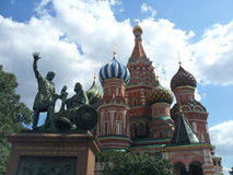 basilikadomkyrkamoscow röd russia s fyrkantig st Royaltyfri Bild