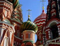 basilikadomkyrkamoscow russia st Royaltyfria Foton