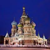 basilikadomkyrkamoscow s saint Royaltyfria Foton