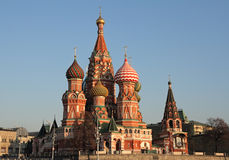 basilikadomkyrkamoscow s saint royaltyfri fotografi