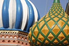 basilikadomkyrkamoscow saint Royaltyfria Bilder