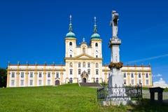 BasilikaminderårigSvaty kopeček, Olomouc, Moravia, C Royaltyfri Foto