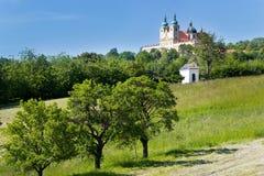 BasilikaminderårigSvaty kopeček, Olomouc, Moravia, Tjeckien, Europa Royaltyfria Bilder