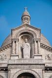 Basilikan av den sakrala hjärtan av Jesus på Montmartre i Paris Royaltyfria Bilder
