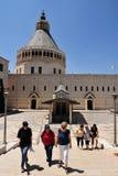 Basilikan av förklaringen i Nazareth Israel Arkivbild