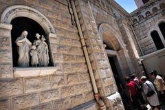 Basilikan av förklaringen i Nazareth Israel Arkivfoton