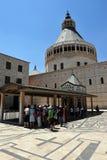 Basilikan av förklaringen i Nazareth Israel Fotografering för Bildbyråer