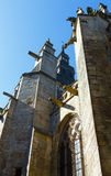 Basilikan av Saint Sauveur Dinan, Frankrike Arkivbild