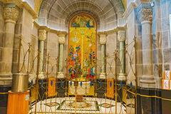 Basilikan av Sainte Anne de Beaupre i Quebec, Kanada Arkivfoton