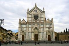 Basilikan av Santa Croce Florence arkivbilder