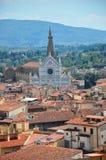 Basilikan av Santa Croce i Florence, Italien Fotografering för Bildbyråer