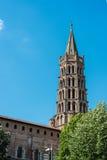 Basilikan av St Sernin i Toulouse, Frankrike Royaltyfri Foto