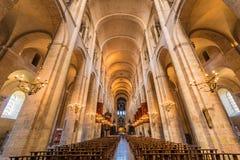 Basilikan av St Sernin i Toulouse, Frankrike Arkivbild