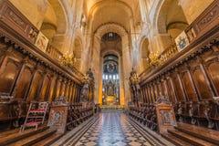 Basilikan av St Sernin i Toulouse, Frankrike Royaltyfri Fotografi