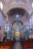 Basilikan av vår dam av ensamhet i Oaxaca Mexico Arkivfoto