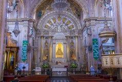 Basilikan av vår dam av ensamhet i Oaxaca Mexico Fotografering för Bildbyråer