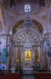 Basilikan av vår dam av ensamhet i Oaxaca Mexico Arkivbild