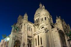 Basilikan Sacre Coeur, Frankrike, Paris Arkivbilder
