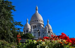 Basilikan Sacre Coeur, Paris, Frankrike Royaltyfri Foto
