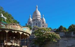 Basilikan Sacre Coeur, Paris, Frankrike Royaltyfri Fotografi