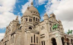 Basilikan Sacre Coeur, Paris, Frankrike Royaltyfria Foton