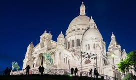 Basilikan Sacre Coeur, Paris, Frankrike Fotografering för Bildbyråer
