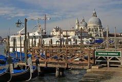 Basilikan Santa Maria della Salute i Venedig, Italien Arkivfoton